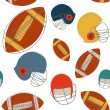 Football seamless pattern — Stock Vector