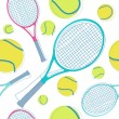 Tennis seamless pattern — Stock Vector