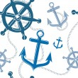 Nautical seamless pattern — 图库矢量图片