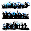 Crowd silhouettes — Stock Vector #9181806