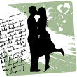 Couple background. love concept design — Stock Vector