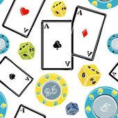 Casino element seamless mönster — Stockvektor
