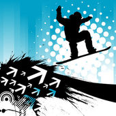 Snowboarding background — Vector de stock