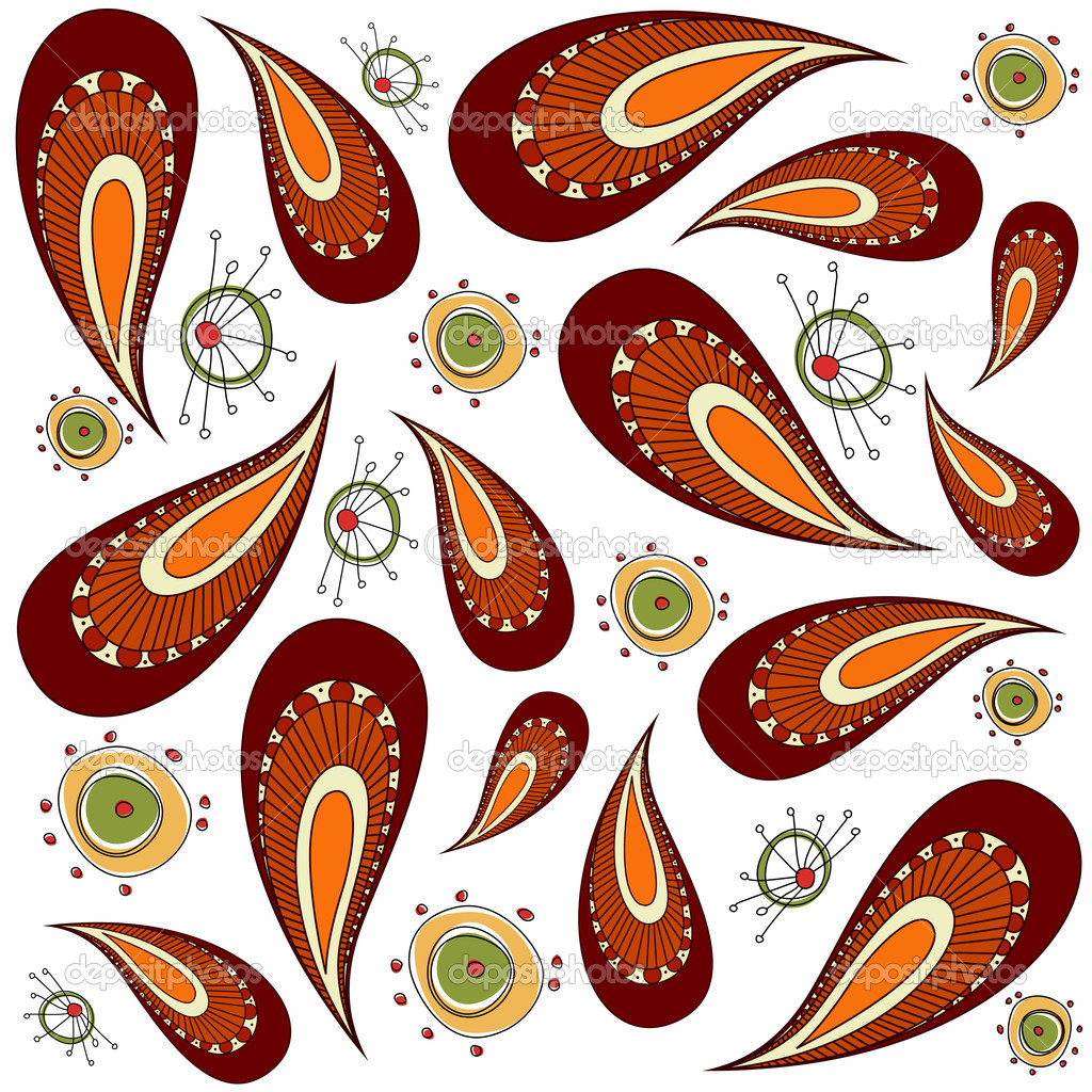 Decorative pattern vector — Vektorgrafik #9180874