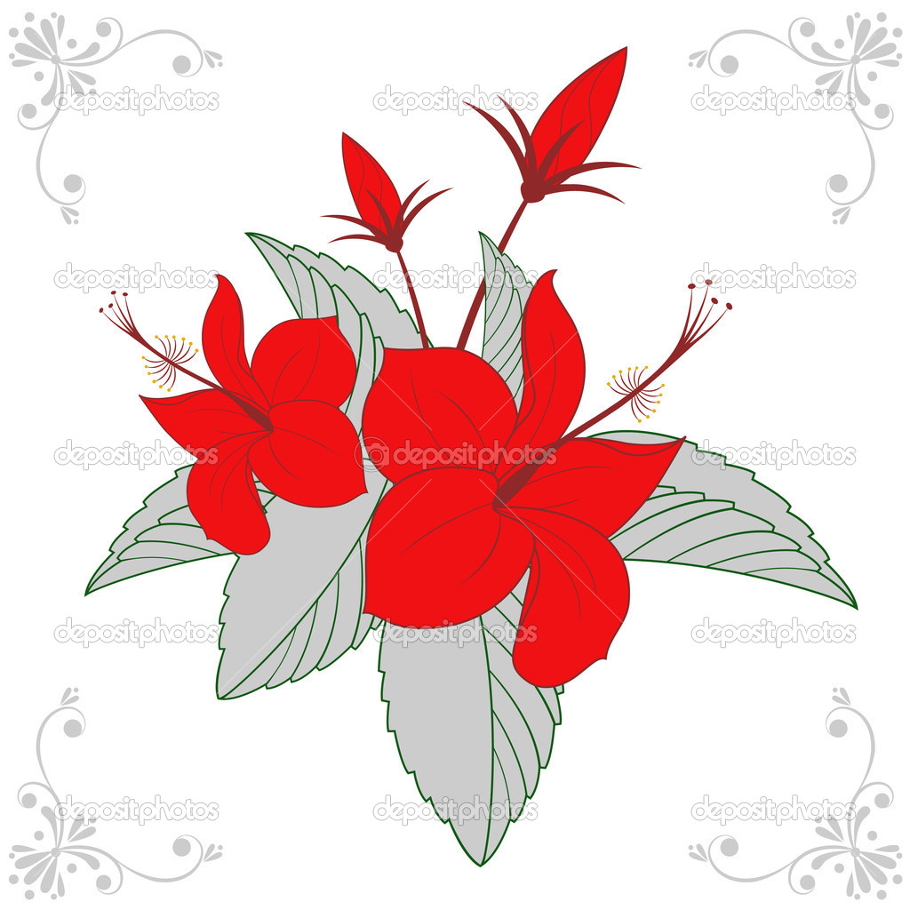Floral design vector  — Stock Vector #9181438