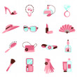 Women objects icon — Stock Vector
