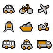 Vehicles icon — Imagen vectorial