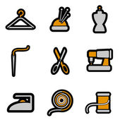 Tailoring object icon — Stock Vector