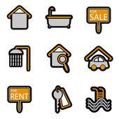 Dom ikona obiektu — Wektor stockowy