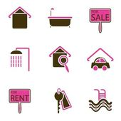 Ikona objektu dům — Stock vektor