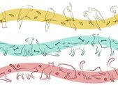 Pet pattern — Stock Vector