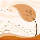 抽象的な秋のツリー — ストックベクタ