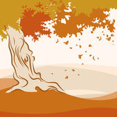 Autumn season — Stock Vector