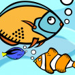 Fish graphic — Vector de stock