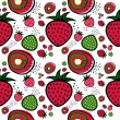 Stock Vector: Strawberry pattern