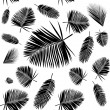 Palm leaf seamless pattern — Stock Vector