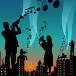 Music city — Stock Vector