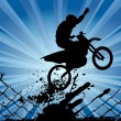 Motocross silhouette — Stock Vector