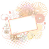 Floral frame soft colors — Stock Vector
