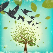 Migrating birds — Stock Vector