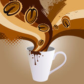 Kaffee-explosion — Stockvektor