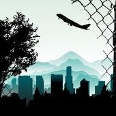 City illustration — ストックベクタ