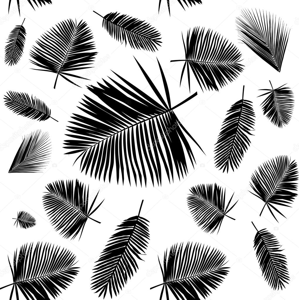 Palm Leaf Seamless Pattern