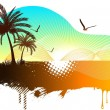 Abstract tropical background — Stock Vector