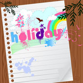 Holiday graphic with paper — Vettoriale Stock