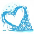 Ice heart — Stock Vector #9841301