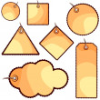 Cute tags — Vector de stock #9841375