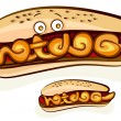 Hotdog design — Stock Vector