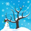 Snowman background — Stock Vector