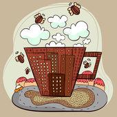 Coffee city — Stock Vector