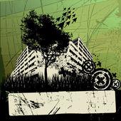 Grunge urban design — Stock Vector