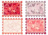 Set of stamps — Cтоковый вектор