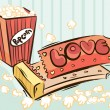 Popcorn design - Stock Vector