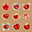 Heart funny icons — Stockvector  #9981537