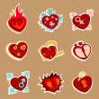 Heart funny icons — Stock Vector