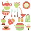 Kitchen objects — Stock Vector