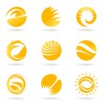 Sun symbols — Stock Vector #9981680