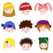 Cartoon children face — Stock Vector