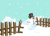 Snowman background — Vetorial Stock