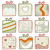 Gift icon set — Stock Vector