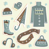 Winter fashion — Stock Vector