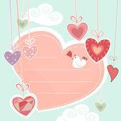 装飾的な心 — ストックベクタ