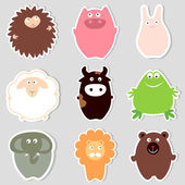 Animales lindos — Vector de stock