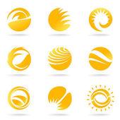 Sun symbols — Stock Vector