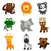 Cute wild animals — Stock Vector