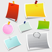 Office sticker set — Stock Vector
